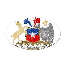 Chile Coat Of Arms Oval Car Magnet