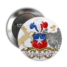 "Chile Coat Of Arms 2.25"" Button"