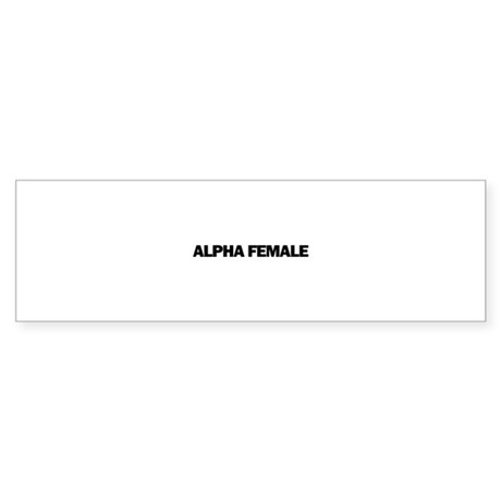 Alpha Female Sticker (Bumper 10 pk)