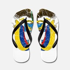 Colombia Coat Of Arms Flip Flops