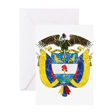Colombia Coat Of Arms Greeting Card