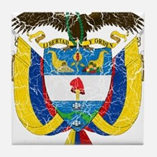 Colombia Coat Of Arms Tile Coaster
