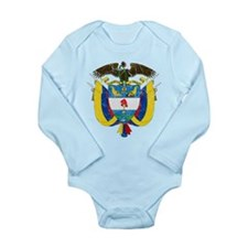 Colombia Coat Of Arms Long Sleeve Infant Bodysuit