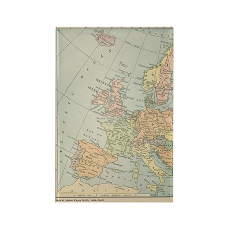Europe - Rectangle Magnet (100 pack)