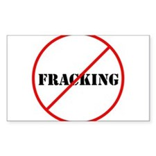 Cross out Fracking Decal