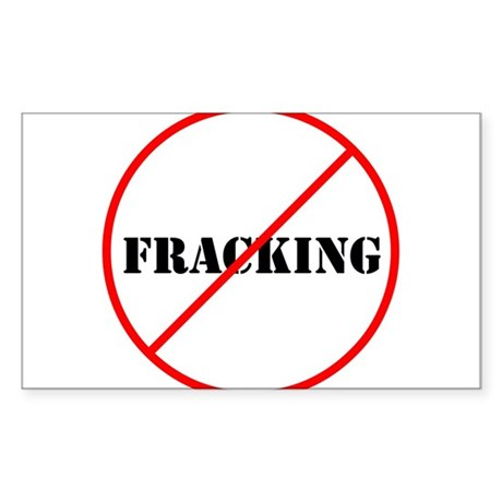 Cross out Fracking Sticker (Rectangle)