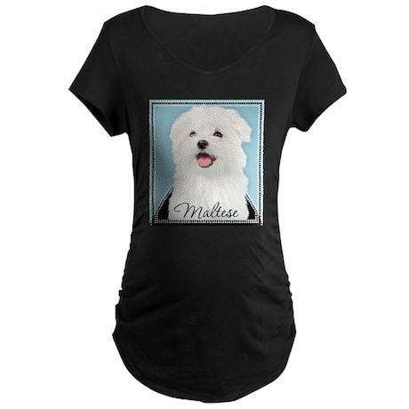 Cute Maltese Maternity Dark T-Shirt