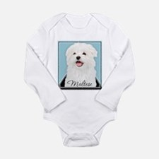 Cute Maltese Long Sleeve Infant Bodysuit