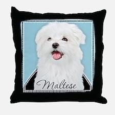 Cute Maltese Throw Pillow