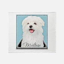 Cute Maltese Throw Blanket