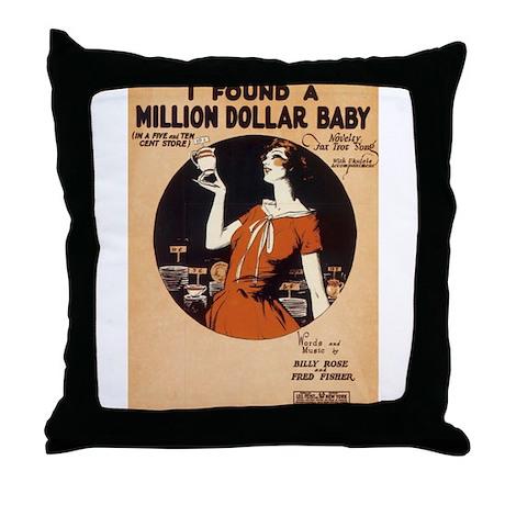 Million $ Baby Throw Pillow