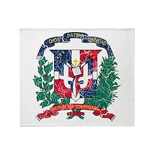 Dominican Republic Coat Of Arms Throw Blanket