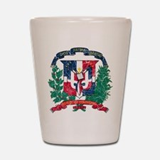 Dominican Republic Coat Of Arms Shot Glass