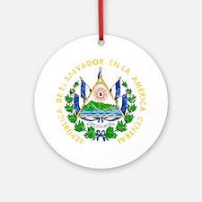 El Salvador Coat Of Arms Ornament (Round)