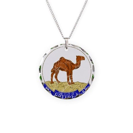 Eritrea Coat Of Arms Necklace Circle Charm