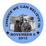 Change 2012 Round Car Magnet