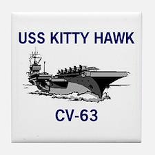 USS KITTY HAWK Tile Coaster