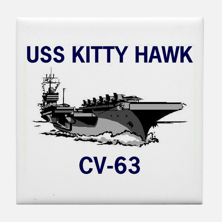 USS KITTY HAWK Tile Coaster