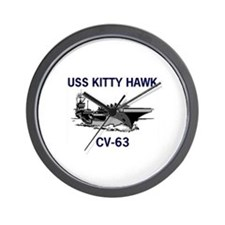 USS KITTY HAWK Wall Clock