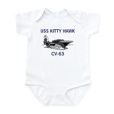 USS KITTY HAWK Infant Creeper