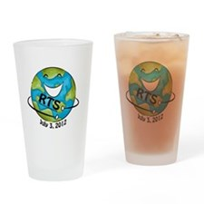 RTS Logo with Awareness Date Drinking Glass