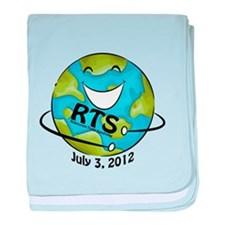RTS Logo with Awareness Date baby blanket