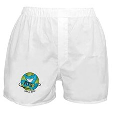 RTS Logo with Awareness Date Boxer Shorts