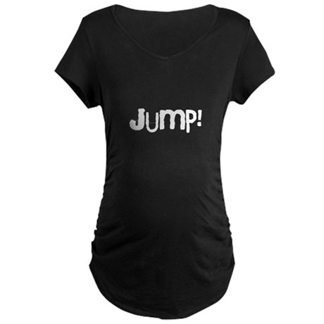 Jump(white).png Maternity Dark T-Shirt