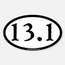 13.1 (Half Marathon) Oval Decal