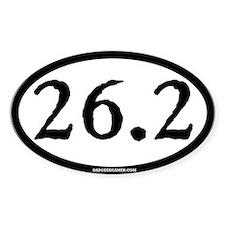 26.2 (Full Marathon) Oval Decal