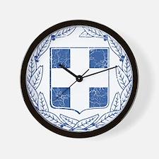 Greece Coat Of Arms Wall Clock