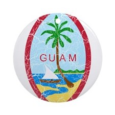 Guam Coat Of Arms Ornament (Round)
