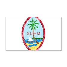 Guam Coat Of Arms Rectangle Car Magnet