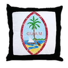 Guam Coat Of Arms Throw Pillow