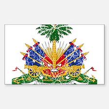 Haiti Coat Of Arms Sticker (Rectangle)