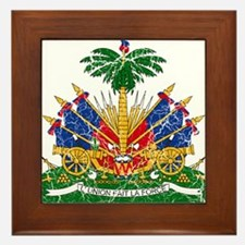 Haiti Coat Of Arms Framed Tile