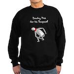 No Respect Bowling Pin Sweatshirt (dark)