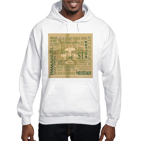 Names of Jesus - Bronze Hooded Sweatshirt