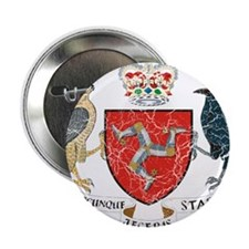 "Isle of Man Coat Of Arms 2.25"" Button"