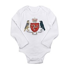 Isle of Man Coat Of Arms Long Sleeve Infant Bodysu