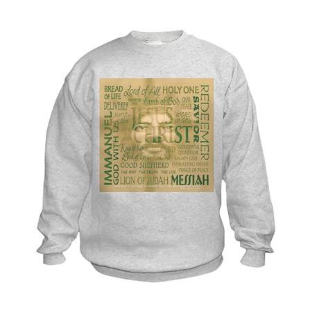 Names of Jesus - Bronze Kids Sweatshirt