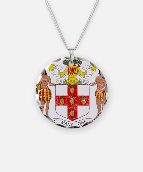 Jamaica Coat Of Arms Necklace