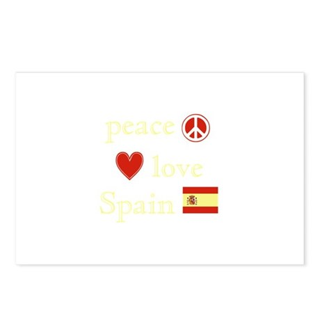 Peace, Love and Spain Postcards (Package of 8)