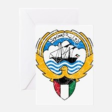 Kuwait Coat Of Arms Greeting Card
