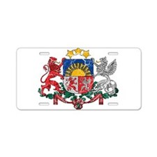 Latvia Coat Of Arms Aluminum License Plate