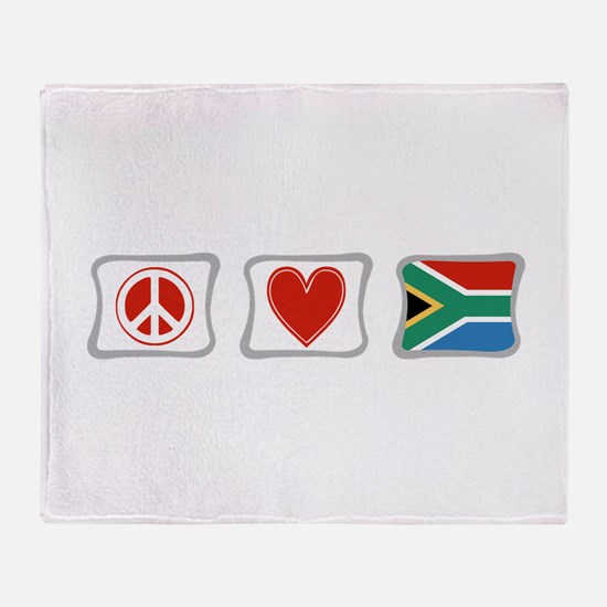 Peace, Love and South Africa Throw Blanket