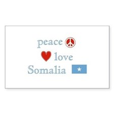 Peace, Love and Somalia Decal