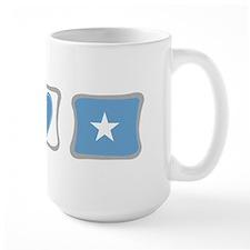 Peace, Love and Somalia Mug