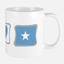 Peace, Love and Somalia Small Small Mug