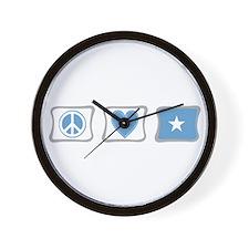 Peace, Love and Somalia Wall Clock